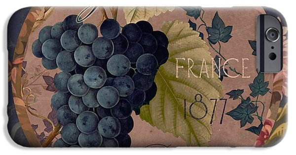 Red Wine iPhone Cases - Wines of France Grenache iPhone Case by Mindy Sommers