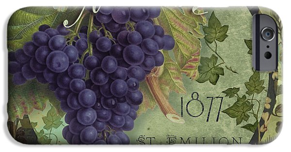 Purple Grapes iPhone Cases - Wines of France Merlot iPhone Case by Mindy Sommers