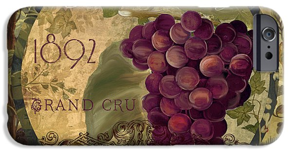 Red Wine iPhone Cases - Wines of France Pinot Noir iPhone Case by Mindy Sommers