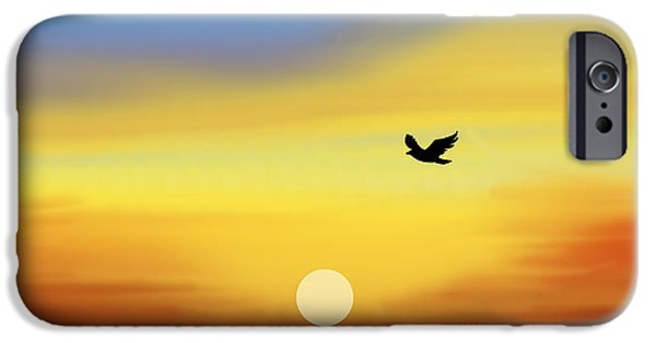 Bird iPhone Cases - Winging Home iPhone Case by Sheela Ajith