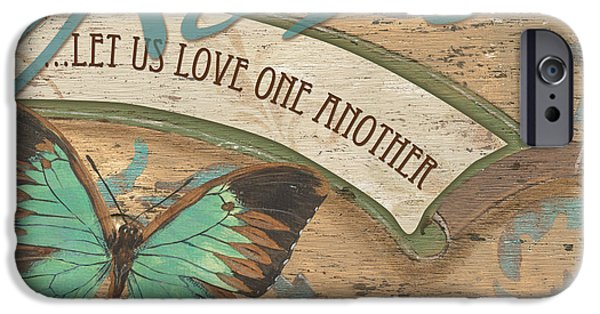 Butterflies Paintings iPhone Cases - Wings of Love iPhone Case by Debbie DeWitt