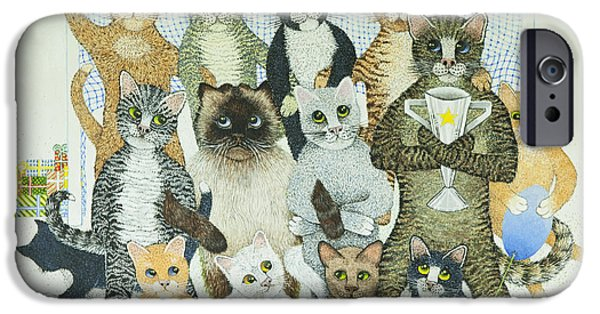 Photos Of Cats iPhone Cases - Winning Ways iPhone Case by Pat Scott
