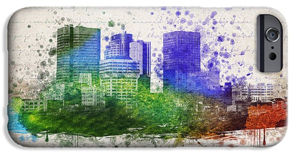 City Drawings iPhone Cases - Winnipeg In Color iPhone Case by Aged Pixel