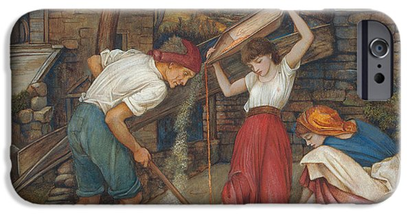 Laborers iPhone Cases - Winnowing iPhone Case by John Roddam Spencer Stanhope