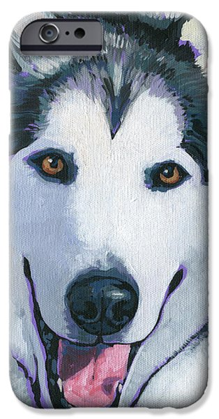 Husky iPhone Cases - Winston iPhone Case by Nadi Spencer