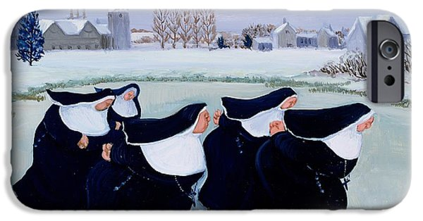 Skate iPhone Cases - Winter at the Convent iPhone Case by Margaret Loxton