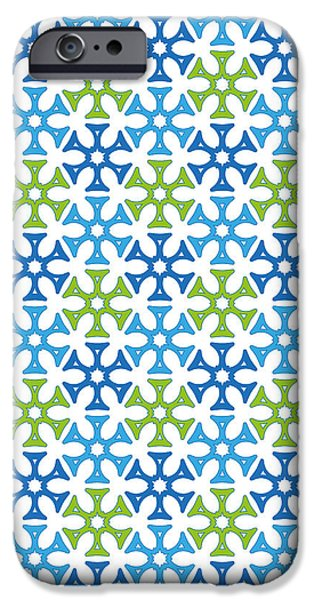 Christmas Greeting Tapestries - Textiles iPhone Cases - winter background Stylized snowflakes iPhone Case by Jozef Jankola