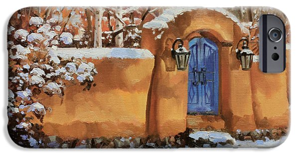 Chile iPhone Cases - Winter Beauty of Santa Fe iPhone Case by Gary Kim