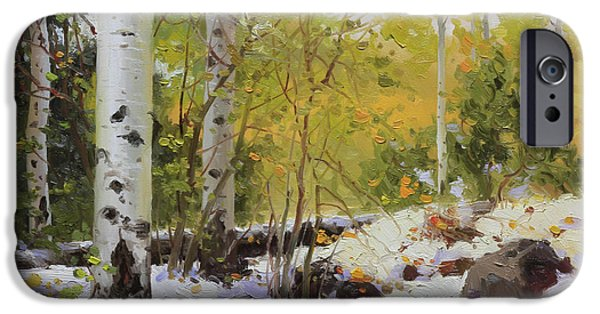 Tree Art Print iPhone Cases - Winter beauty Sangre de Mountain 2 iPhone Case by Gary Kim