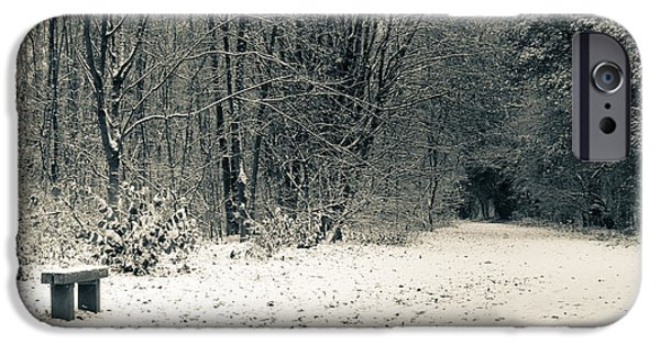 Swindon iPhone Cases - Winter Bridleway iPhone Case by Andy Smy