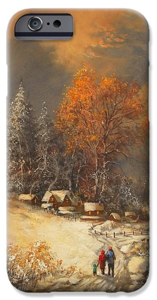 Snow Scene iPhone Cases - Winter Classic iPhone Case by Tom Shropshire