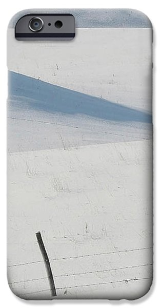 Winter day on the Prairies iPhone Case by Mark Duffy