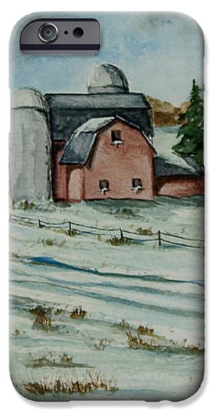 Winter Down On The Farm iPhone Case by Charlotte Blanchard