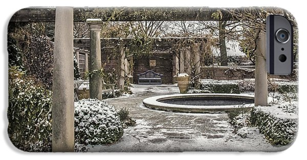 Winter Scene iPhone Cases - Winter English Walled Garden iPhone Case by Julie Palencia