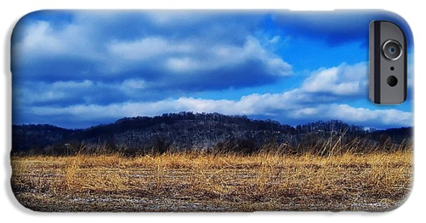 Landscape Posters iPhone Cases - Winter Field iPhone Case by Chris Flees