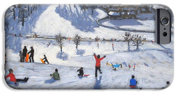 Winter iPhone Cases - Winter Fun iPhone Case by Andrew Macara