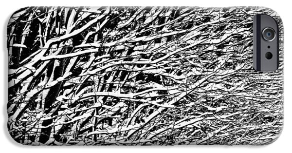 Abstractions Photographs iPhone Cases - Winter iPhone Case by Gert Lavsen