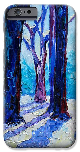 Christmas Greeting iPhone Cases - Winter Impression iPhone Case by Ana Maria Edulescu