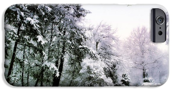 Snowy Digital iPhone Cases - Winter Impressions iPhone Case by Jessica Jenney