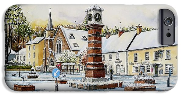 Christmas Greeting iPhone Cases - Winter In Twyn Square iPhone Case by Andrew Read