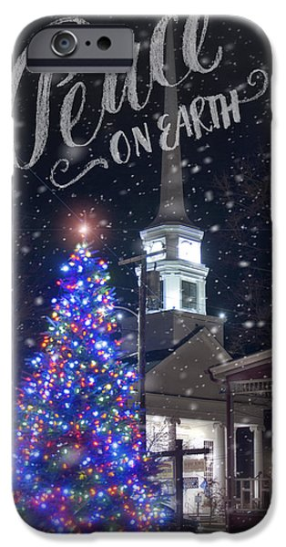 New England Snow Scene iPhone Cases - Winter in Vermont - Christmas iPhone Case by Joann Vitali