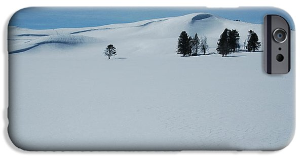 Snow iPhone Cases - Winter in Yellowstone iPhone Case by George Scheller