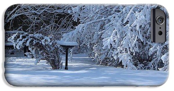 Winter Scene iPhone Cases - Winter is Beautiful iPhone Case by Jari Hawk