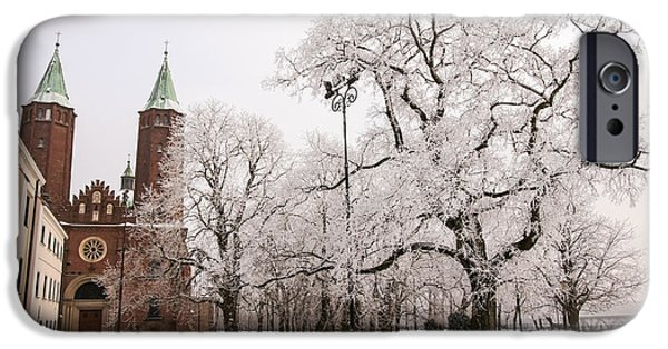 Snowy Day iPhone Cases - Winter Landscape 2 iPhone Case by Marcin Rogozinski
