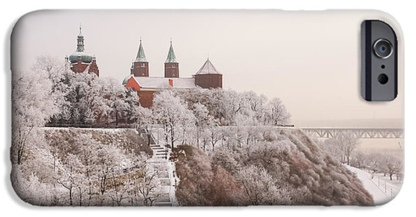 Snowy Day iPhone Cases - Winter Landscape 3 iPhone Case by Marcin Rogozinski