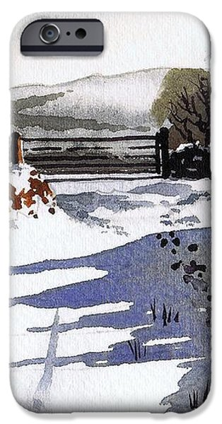 Winter Lane sowood iPhone Case by Paul Dene Marlor