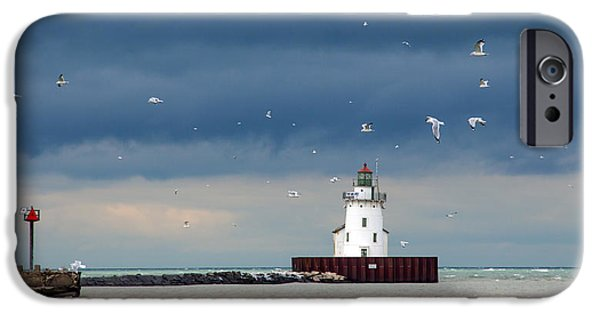 Winter Scene iPhone Cases - Winter Lighthouse iPhone Case by Rob Hawker