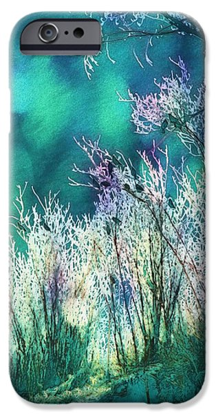 Christmas Greeting iPhone Cases - Winter Lights iPhone Case by Kathy Bassett