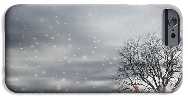 Winter Trees Photographs iPhone Cases - Winter iPhone Case by Lourry Legarde
