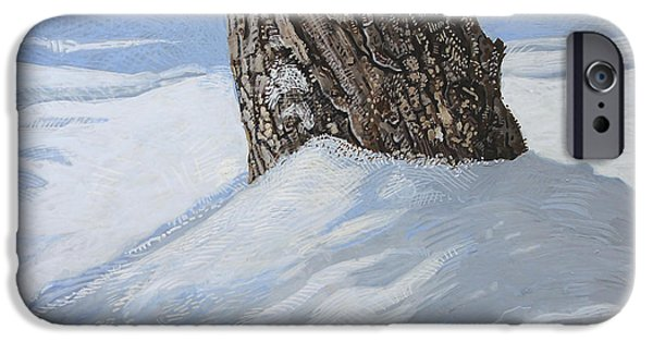 Winter Storm Paintings iPhone Cases - Winter Mast iPhone Case by J S  Ferguson