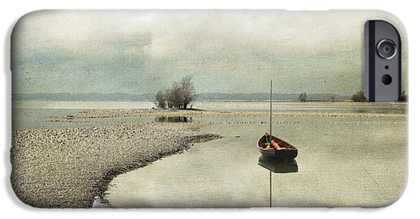 Monotone iPhone Cases - Winter Morning by the Lake iPhone Case by Chris Armytage