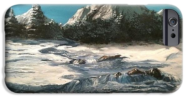 Jack Skinner iPhone Cases - Winter Mountain Stream iPhone Case by Jack Skinner