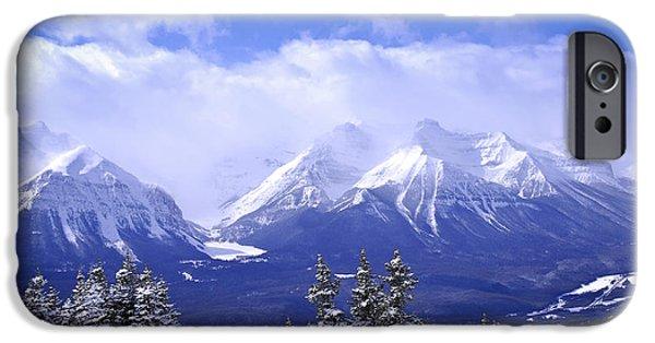 Mountains iPhone Cases - Winter mountains iPhone Case by Elena Elisseeva