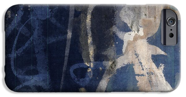 Winter Mixed Media iPhone Cases - Winter Nights Series Three of Six iPhone Case by Carol Leigh