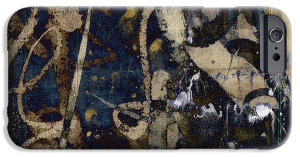 Winter Mixed Media iPhone Cases - Winter Rains Series Four of Six iPhone Case by Carol Leigh