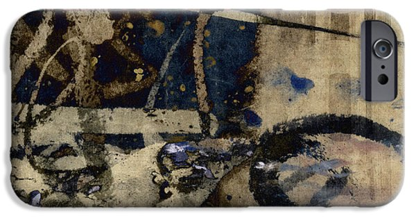 Winter Mixed Media iPhone Cases - Winter Rains Series One of Six iPhone Case by Carol Leigh