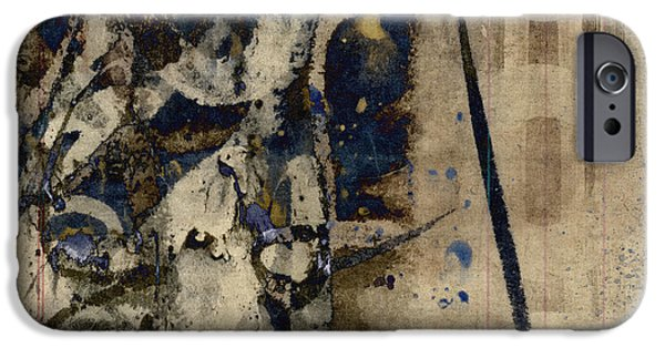 Winter Mixed Media iPhone Cases - Winter Rains Series Six of Six iPhone Case by Carol Leigh
