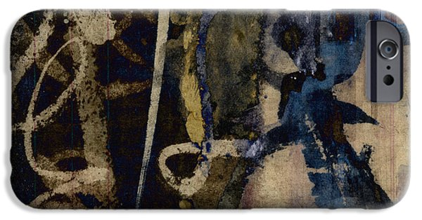 Winter Mixed Media iPhone Cases - Winter Rains Series Three of Six iPhone Case by Carol Leigh
