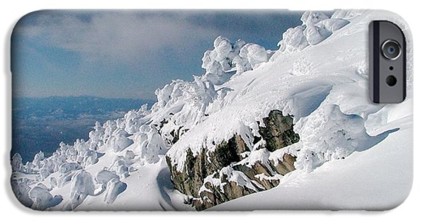 Snowscape iPhone Cases - Winter Ridge iPhone Case by Brent Sisson