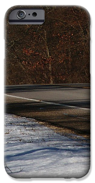 Winter Run iPhone Case by Linda Knorr Shafer