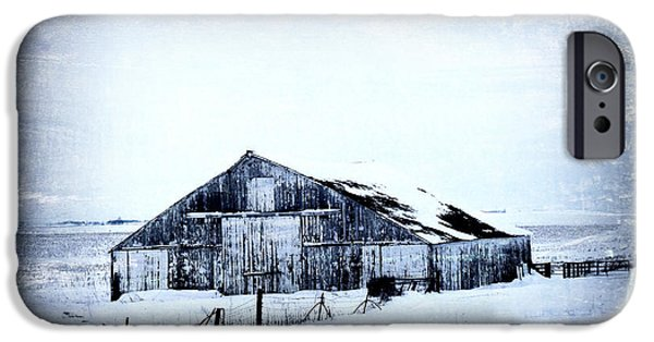 Rural Decay Digital Art iPhone Cases - Winter Scene iPhone Case by Julie Hamilton