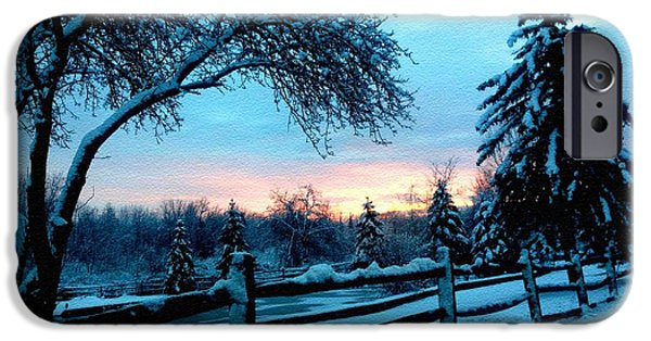 Concept Pastels iPhone Cases - Winter Scene on the road to Moscow H b iPhone Case by Gert J Rheeders