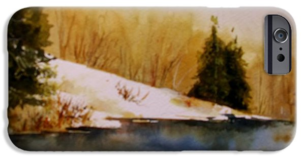 Pines iPhone Cases - Winter Silence iPhone Case by Cindy Gilberti