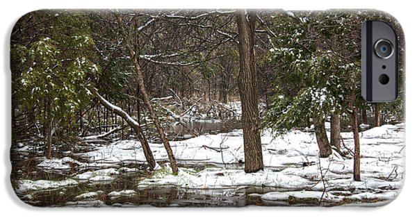 Mounds iPhone Cases - Winter Snow iPhone Case by Judy Keown