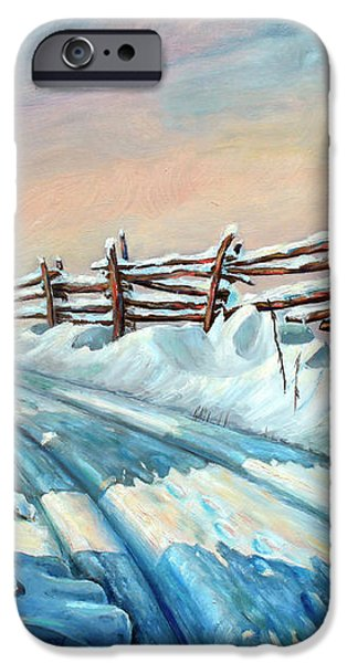 Winter Snow Tracks iPhone Case by Otto Werner