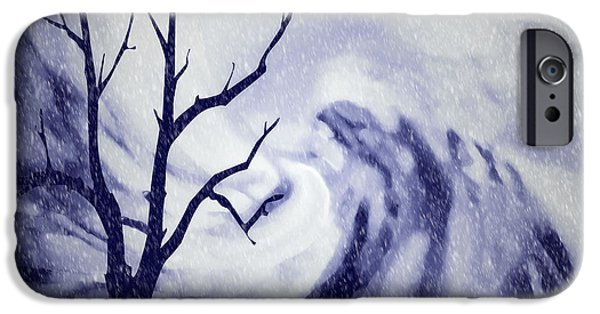 Winter Storm iPhone Cases - Winter Snowfall iPhone Case by Kathy Franklin